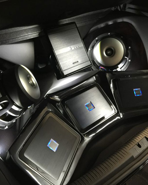 Car sound center speakers