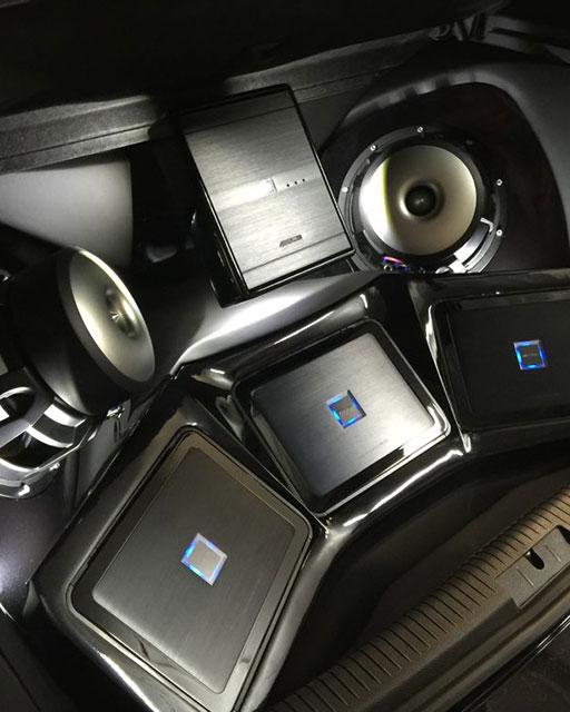 Car sound center speakers
